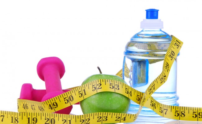 Diet diabetes weight loss concept with tape measure